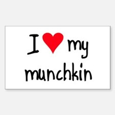I LOVE MY Munchkin Sticker (Rectangle)
