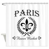 Flower market Shower Curtains