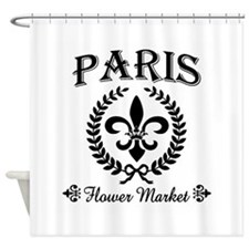PARIS FLOWER MARKET Shower Curtain