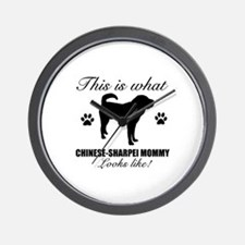 Chinese Sharpei Mommy Wall Clock