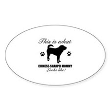 Chinese Sharpei Mommy Decal