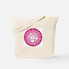 Eat Sleep Scrapbook Tote Bag