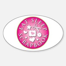Eat Sleep Scrapbook Oval Decal