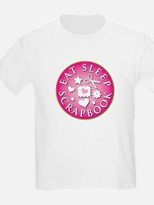 Eat Sleep Scrapbook Kids T-Shirt
