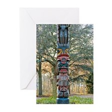 Cute Totem pole Greeting Cards (Pk of 20)