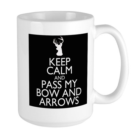 Pass my bow and arrows Large Mug