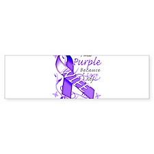 I Wear Purple I Love My Wife Bumper Sticker