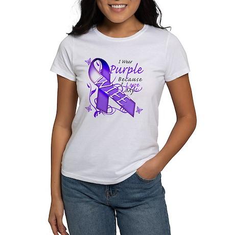 I Wear Purple I Love My Wife Women's T-Shirt