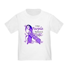 I Wear Purple I Love My Wife T