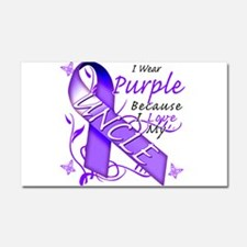I Wear Purple I Love My Uncle Car Magnet 20 x 12