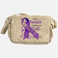 I Wear Purple I Love My Uncle Messenger Bag