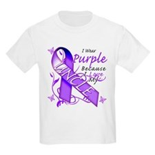 I Wear Purple I Love My Uncle T-Shirt