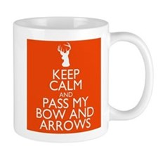 pass my bow and arrows orange Mug