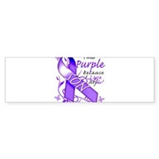 I Wear Purple I Love My Son Bumper Sticker