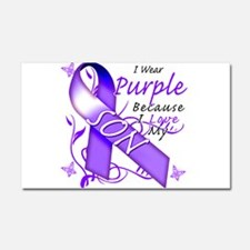 I Wear Purple I Love My Son Car Magnet 20 x 12