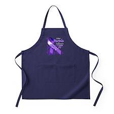 I Wear Purple I Love My Son Apron (dark)