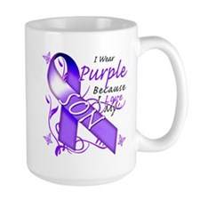 I Wear Purple I Love My Son Mug