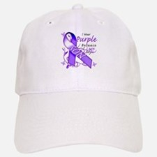 I Wear Purple I Love My Son Baseball Baseball Cap