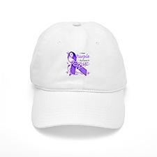 I Wear Purple I Love My Son Baseball Cap