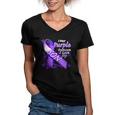I Wear Purple I Love My Son Shirt