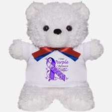 I Wear Purple I Love My Siste Teddy Bear