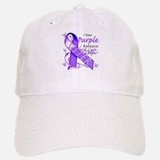 I Wear Purple I Love My Siste Baseball Baseball Cap