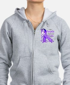 I Wear Purple I Love My Siste Zip Hoodie