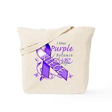 I Wear Purple I Love My Niece Tote Bag