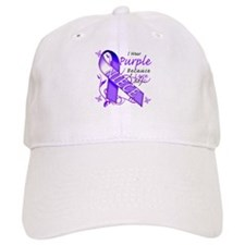 I Wear Purple I Love My Niece Baseball Cap