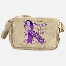 I Wear Purple I Love My Nephe Messenger Bag