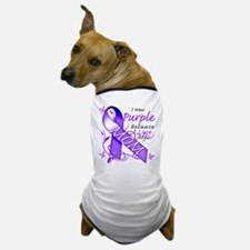 I Wear Purple I Love My Mom Dog T-Shirt