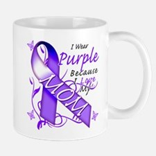 I Wear Purple I Love My Mom Mug