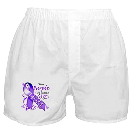 I Wear Purple I Love My Mom Boxer Shorts