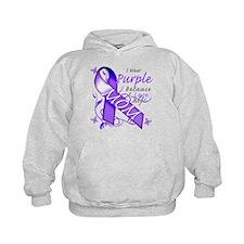 I Wear Purple I Love My Mom Hoodie