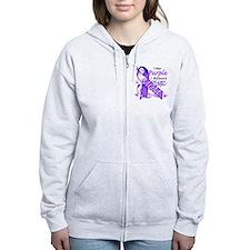 I Wear Purple I Love My Mom Zip Hoodie
