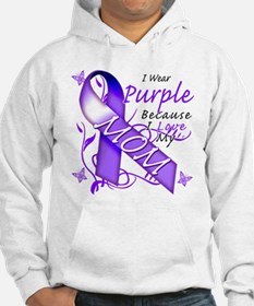 I Wear Purple I Love My Mom Hoodie