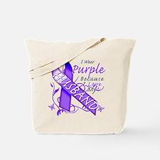 I Wear Purple I Love My Husba Tote Bag
