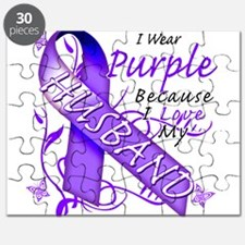 I Wear Purple I Love My Husba Puzzle