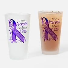I Wear Purple I Love My Great Drinking Glass