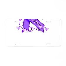 I Wear Purple I Love My Great Aluminum License Pla