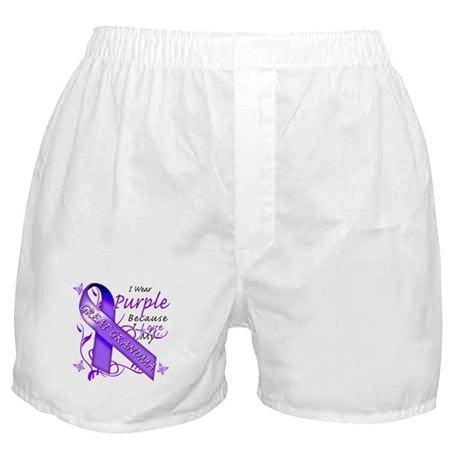 I Wear Purple I Love My Great Boxer Shorts