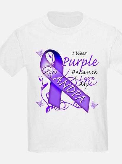 I Wear Purple I Love My Grand T-Shirt