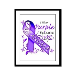 I Wear Purple I Love My Grand Framed Panel Print