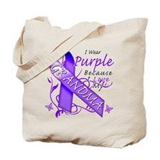 I Wear Purple I Love My Grand Tote Bag