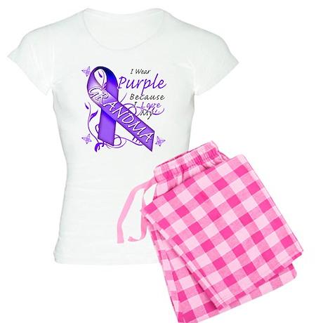 I Wear Purple I Love My Grand Women's Light Pajama