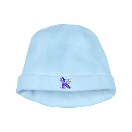 I Wear Purple I Love My Grand baby hat