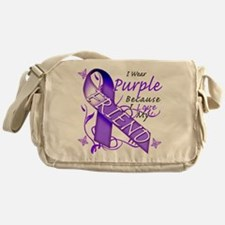I Wear Purple I Love My Frien Messenger Bag