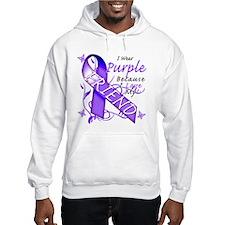 I Wear Purple I Love My Frien Hoodie