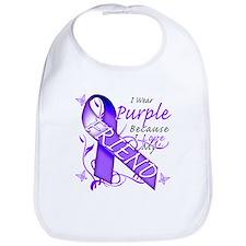 I Wear Purple I Love My Frien Bib
