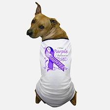 I Wear Purple I Love My Daugh Dog T-Shirt